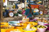 Unidentified woman seller on the Burmese — Stock Photo