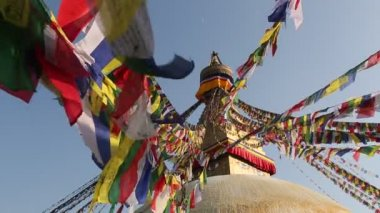 Boudhanath Stupa in Kathmandu valley — Stock Video
