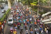 Thai football fans celebrate — Stockfoto