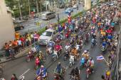 Thai football fans celebrate — Stok fotoğraf