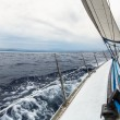 Sailing yacht on race — Stock Photo #61255589