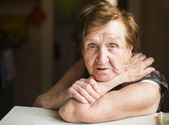 Poor old woman — Stock Photo