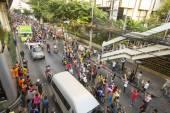 Motorcycle traffic jam — Stock Photo