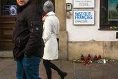 Solidarita pro oběti Charlie Hebdo — Stock fotografie
