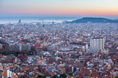 View of Barcelona from park Guel — Stock Photo