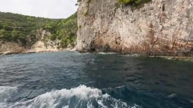 Caves on Zakynthos island — Stock Video