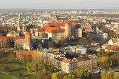 Aerial view of Royal Wawel — Stok fotoğraf