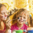 Children with  faces painted — Stock Photo #64540703
