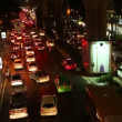 Traffic jam in Bangkok centre at night time. Bangkok traffic problem. — Stock Video #65243135