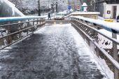 Footbridge Ojca Bernatka — Stock Photo