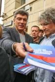 Boris Nemtsov - leader of russian opposition — Stock Photo