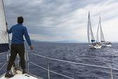 Sailboats participate in regatta — Photo
