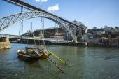 Traditional boats at Douro river — Foto de Stock