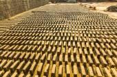 Místní cihelně v Nepálu — Stock fotografie