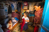 People in poor area in Nepal — Stock Photo