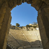 Ruins of ancient theater under Acropolis — Stock Photo