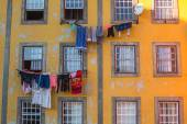 Traditional drying clothes in Porto — Stock Photo