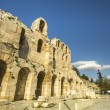 Ancient theater under Acropolis in Athens — Stock Photo #69474383