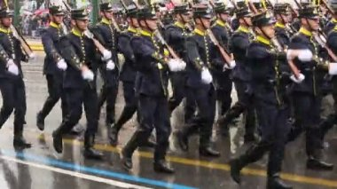 Military parade for the Greece Independence Day — Stock Video