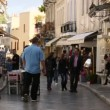 Crowded shopping street in Athens. — Stock Video #69748103