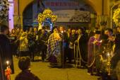 People during the celebration of Orthodox Easter — Stock Photo