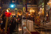 People during celebration of Orthodox Easter — Stock Photo