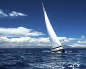 Sailing yacht race — Stock Photo
