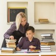 Young student learns at home — Stockfoto #71044287