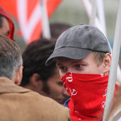 During the celebration of May Day — Stock Photo