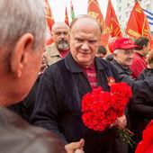 Gennady Zyuganov during procession. — Stock Photo