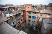 Houses in the Central district of Bhaktapur. — Stock Photo