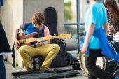 Neidentifikovaný ulice hudebníci — Stock fotografie