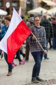 National Flag Day of the Republic of Poland — Stock Photo