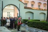 Ceremony of laying flowers to Hugo Kollataj — Stock Photo