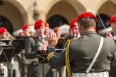 Military Band on main square — Stock Photo