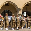 Military orchestra on main square — Stock Photo #72958807