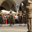Military orchestra on main square — Stock Photo #72958825