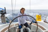 身份不明的水手参加帆船赛 — 图库照片