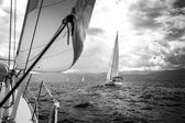 Sailing yachts in the sea — Stock Photo
