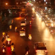 Traffic problem in Bangkok. Traffic jams at night time. — Stock Video #73396357