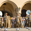 Military orchestra on main square — Stock Photo #73470251