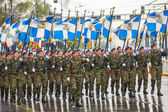 Greeks pay tribute to the heroes of the Revolution — Stock Photo