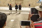 Greek soldiers Evzones — Stock Photo