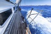 Ship in the open Sea. — Stock Vector