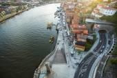 Douro river at center of Porto — Stock Photo