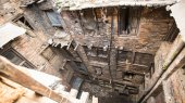 Nepali houses in the city center. — Stock Photo