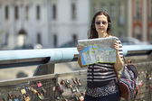 Young female tourist — Stock Photo