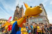 During the parade of dragons — Stock Photo