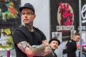 Unidentified participants at International Tattoo Convention — Stock Photo