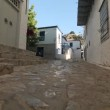 Street of old Greek town — Stock Video #76598159